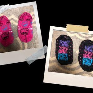Girls Monster High 2 Pack Socks